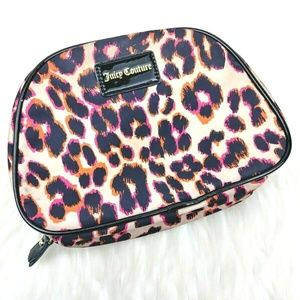 Juicy Couture  Leopard Print Make Up Cosmetics Bag